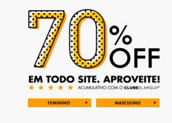 Promoção de Glamour no folheto de São Paulo