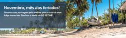 Promoção de Viagens, passeios, turismo no folheto de Gol em Aracaju