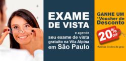 Promoção de Óticas Metrópole no folheto de São Paulo