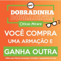 Promoção de Óticas e centros auditívos no folheto de Óticas Mirare em Guarulhos