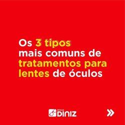 Ofertas Óticas no catálogo Óticas Diniz em São Roque ( 8 dias mais )