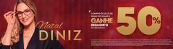 Promoção de Óticas e centros auditívos no folheto de Óticas Diniz em Anápolis
