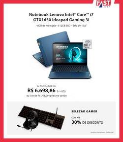 Ofertas Tecnologia e Eletrônicos no catálogo Fast Shop em Sorocaba ( 12 dias mais )
