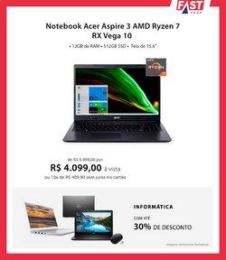 Ofertas de Notebook Acer em Fast Shop