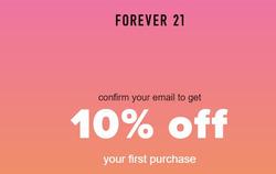 Promoção de Forever 21 no folheto de Goiânia