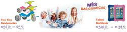Promoção de Dia das Crianças no folheto de Móveis Brasília em São Paulo