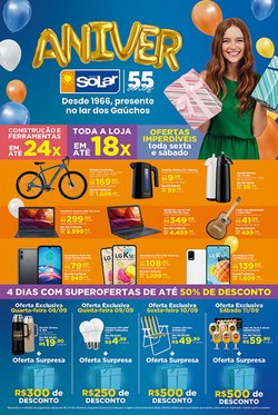Ofertas de Material de Construção no catálogo Lojas Solar (  3 dias mais)