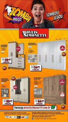 Ofertas de Móveis Simonetti no catálogo Móveis Simonetti (  Válido até amanhã)