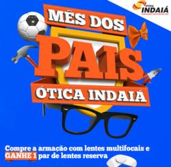 Promoção de Óticas e centros auditívos no folheto de Ótica Indaiá em São Paulo