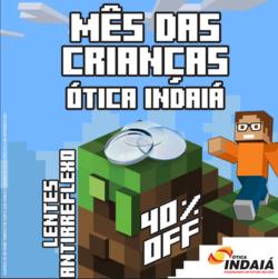 Promoção de Ótica Indaiá no folheto de São Paulo