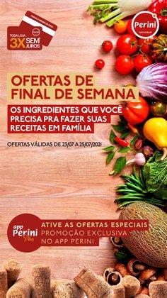Ofertas de Supermercados no catálogo Perini (  Vence hoje)