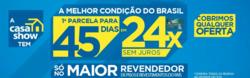 Promoção de Casa Show no folheto de Bonsucesso