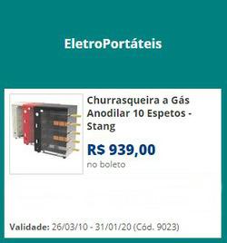Promoção de Lojas de departamentos no folheto de Lojas Colombo em Curitiba
