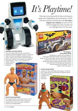 Promoção de Brinquedos no folheto de The Hut International em São Paulo