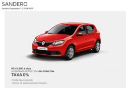 Promoção de Renault no folheto de Aracaju