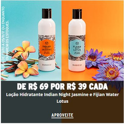 Promoção de The Body Shop no folheto de São Paulo
