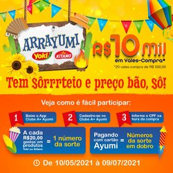 Ofertas de Ayumi Supermercados no catálogo Ayumi Supermercados (  20 dias mais)