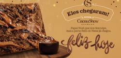 Promoção de Restaurantes, lanchonetes no folheto de Cacau Show em Anápolis