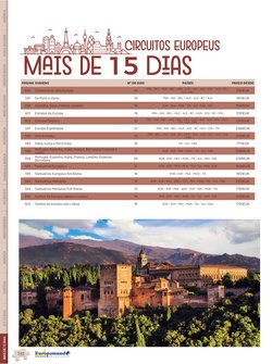 Ofertas Viagens, Turismo e Lazer no catálogo Europamundo Vacaciones em Fortaleza ( Mais de um mês )