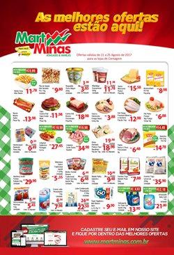Promoção de Mart Minas no folheto de Belo Horizonte