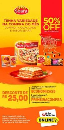 Ofertas Supermercados no catálogo Supermercados São Vicente em Natal ( Válido até amanhã )