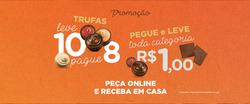 Cupom Chocolates Brasil Cacau em Joinville ( 20 dias mais )
