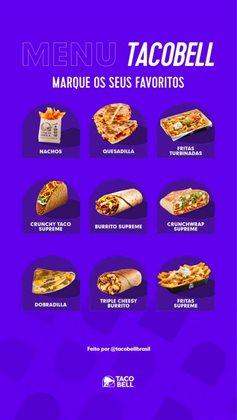 Ofertas Restaurantes no catálogo Taco Bell em Santo André ( Publicado a 3 dias )