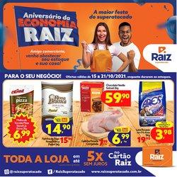 Ofertas de Supermercados no catálogo Raiz Superatacado (  Vence hoje)