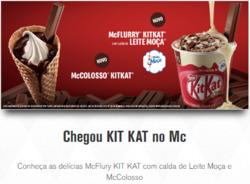 Promoção de Aeroporto de Congonhas no folheto de McDonald's em São Paulo