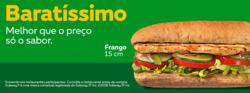 Promoção de Restaurantes, lanchonetes no folheto de Subway em Cornélio Procópio
