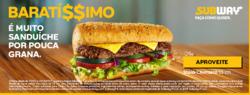 Promoção de Restaurantes, lanchonetes no folheto de Subway em Mauá