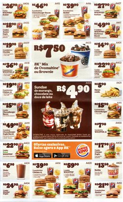 Ofertas Restaurantes no catálogo Burger King em Fortaleza ( 21 dias mais )