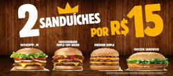 Promoção de Burger King no folheto de Guarulhos