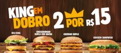 Promoção de Restaurantes, lanchonetes no folheto de Burger King em Nova Iguaçu