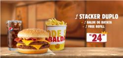 Promoção de Restaurantes, lanchonetes no folheto de Burger King em Diadema