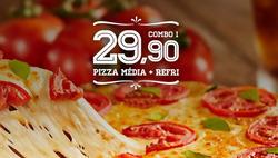Promoção de Domino's Pizza no folheto de Vila Velha