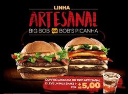 Promoção de Shopping Studio Cinco no folheto de Bob's em Manaus