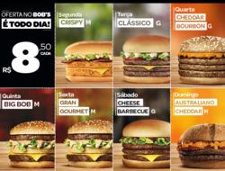 Promoção de Restaurantes, lanchonetes no folheto de Bob's em Nova Iguaçu