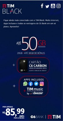 Ofertas de Tecnologia e Eletrônicos no catálogo Tim (  3 dias mais)