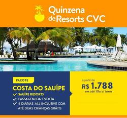 Promoção de CVC no folheto de Rio de Janeiro