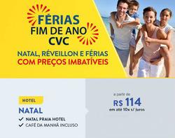 Promoção de Viagens, passeios, turismo no folheto de CVC em Belém