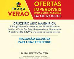 Promoção de CVC no folheto de São Paulo
