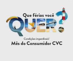 Promoção de Viagens, passeios, turismo no folheto de CVC em Magé