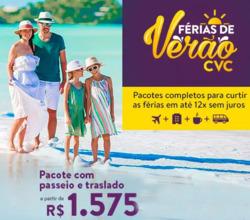 Promoção de Viagens, passeios, turismo no folheto de CVC em Curitiba