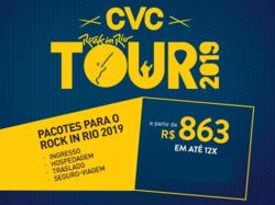 Promoção de Viagens, passeios, turismo no folheto de CVC em Salvador