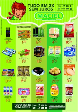 Promoção de Supermercados Maciel no folheto de São Luís
