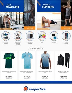 Ofertas Esporte e Fitness no catálogo A Esportiva em Guarulhos ( 4 dias mais )