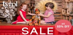 Promoção de Bebês, acessórios e brinquedos no folheto de Tyrol em Diadema