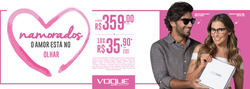 Promoção de Dia dos Namorados no folheto de Óticas Carol em Garanhuns