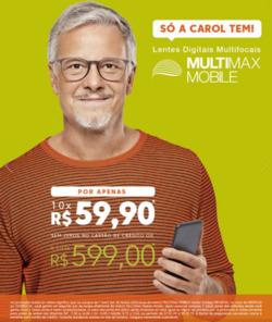 Promoção de Óticas Carol no folheto de São Paulo
